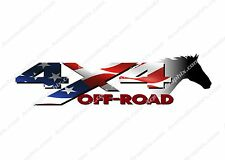 4x4 Off Road American Flag Horse Head TRUCK USA Decal/Sticker! CHEVY GMC FORD