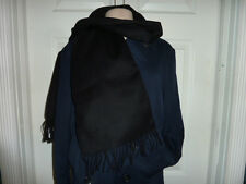 NWT AUTHENTIC COACH CASHMERE BLENDED BLACK MUFFLER SCARF 80881 -  MSRP $98.00