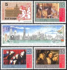 Belgium 1993 Antwerp/Culture/Art/Ships/Buildings/Paintings/Artists 5v set n43244