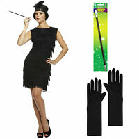 20s 30s Flapper Accessories Charleston Gatsby Ladies Fancy Dress Gloves Holder