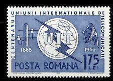 ROMANIA - 1965 - Centenario dell'Unione internazionale delle telecomunicaz.