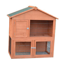 NEW 100*53*105 Two Storey Rabbit,Ferret,Guinea Pig Cage Run Hutch P027 Open Roof