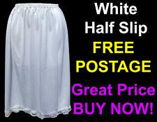 "Ladies 24"" & 27"" Half Slip Petticoat Waist Size 12-26. Black Or White Underskirt"