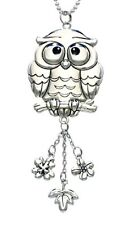 OWL Ganz Car Charm with Dangle Charms and Ball Chain for Rearview Mirror