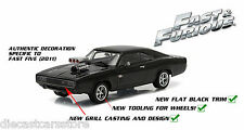 GREENLIGHT FAST AND FURIOUS FIVE 5 DOM'S 1970 DODGE CHARGER R/T 1/43 BLACK 86228