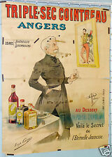 GUILLAUME AFFICHE ANCIENNE TRIPLE SEC COINTREAU ANGERS VINTAGE POSTER