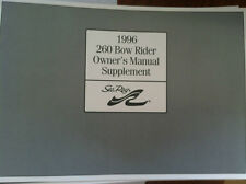 Sea Ray 1996 260 Bow Rider Owner's Manual Supplement