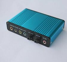 S/PDIF USB 6 Channel 5.1 Optical Audio Sound Card SPC-0279 New Blue USB Cable