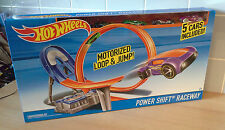 Hot Wheels Power Shift Raceway Motorized Power Loop Including 5 Cars Brand New