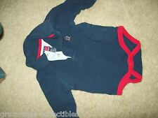 BABY 1 PIECE RED & NAVY  W/ SNAP CROTCH SIZE 3-6 MO TOMMY HILFIGER BRAND