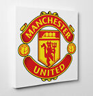 Manchester United Logo On Canvas Print Wall Art Ready to Hang LARGE New Square