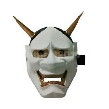 White Resin Mask Halloween Masque Hannya Props Party Cosplay Favor Decor