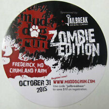 JAILBREAK BREWING, ZOMBIE EDITION, MUD DOG RUN Beer COASTER, Mat, MARYLAND 2015
