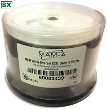 MAM-A (Mitsui) =GOLD= 8X =White Thermal Everest= Hub DVD-R's 50-Pak, CLEARANCE!