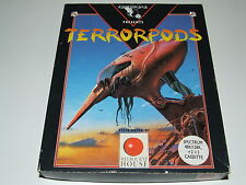 TERRORPODS by MELBOURNE HOUSE/PSYGNOSIS (Big box) for ZX SPECTRUM COMPLETE!