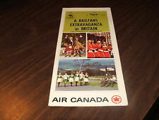 NOVEMBER 1968 AIR CANADA A RAILFAN'S EXTRAVAGANZA IN BRITAIN BROCHURE