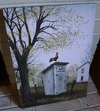 ROOSTER OUTHOUSE Rustic Country Style Kitchen Canvas Sign Home Farm Decor NEW
