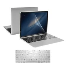 "3 in 1 Clear Crystal Case + Keyboard Skin + LCD for New Macbook 12"" Retina A1534"
