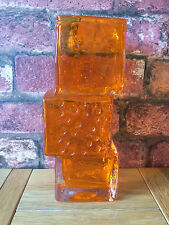 "Fabulous Authentic Whitefriars 8"" Tangerine Drunken Bricklayer Vase"