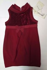 BNWT Beautiful Designer MONNALISA Girls Sleeveless Dress Size 4 Y  ITALY