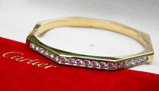 Cartier 18kt Yellow Gold & Diamond Bangle Bracelet, 2.50 Carats, Exceptional!