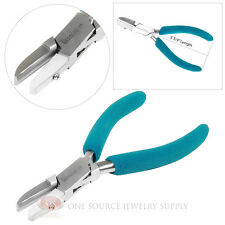 "5 3/4"" Half Round and Flat Nylon Jaw Wire Forming Bending Jewelers Pliers"