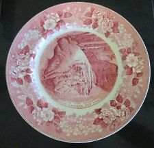 The Pipe Organ, Howe Caverns, New York 1842 Collector Plate Red