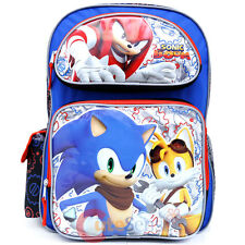 "Sonic The Hedgehog Large School Backpack 16"" Book Bag Knuckles Tail Sonic Boom"