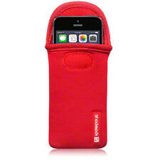 Per nuovi Apple iPhone SE / 5 / 5S SHOCKSOCK Neoprene Case Cover Pouch SLEEVE ROSSA