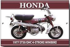 HONDA ST50 POCKET BIKE METALL SCHILD VINTAGE HONDA MOTORRAD,BOXEN MOTORRAD