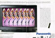 Publicité Advertising 1997 (2 pages) Télévision téléviseur Panasonic