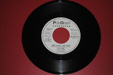 "THE CURE WHY CAN'T I BE YOU?/CURIOSITY KILLED THE CAT  JUKE BOX 7"" 45 GIRI"