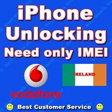 IPhone 3GS 4 4S 5 6S VODAFONE Irlanda sbloccare, 100% FACTORY UNLOCK