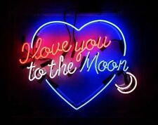"""New I Love You To The Moon Wall Decor Neon Sign 19""""x15"""" Ship From USA"""