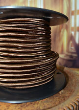 BROWN ROUND RAYON - Pulley Cord 25ft- 3-Wire - Pendant - Lamps - Antique Fan