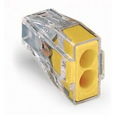 Wago 773-102 Push Wire Connector 2 Cable Yellow x 100
