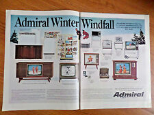 1968 Admiral TV Television Ad  Admiral Winter Windfall
