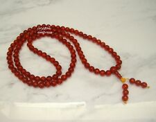 Feng Shui - 8mm Faux Amber 108 Mala Rosary for Meditation