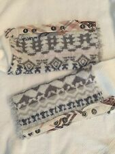NWT Free People ART SCHOOL Cuff Thermal Top Shirt  Ivory White  L