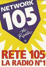 X7220 Rete 105 la radio n° 1 - Pubblicità 1991 - Advertising