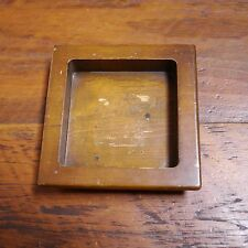 Vintage Solid Pine Wood Square Table Desk Container Ashtray Tray