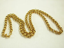 MONET Gold Plated Rolo Chain Necklace Classic Vintage Strand