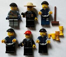 LEGO® City 6 Figuren mit Zubehör (Polizei & Räüber) Police Neu Neuware
