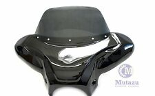 Large Universal Motorcycle Cruiser Batwing Fairing with Tinted Windshield,Type B