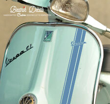 Vespa Retro Logo Stripe Sticker Decal Sticker ET2, P200, P125, GTS, ETC