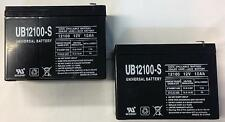 UPG 2 Pack - 12V 10AH SLA Battery replaces Electric Scooter Schwinn S180 / S500