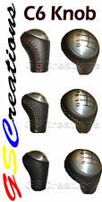 C6 Corvette Shift knob BLUE, RED or YELLOW Stitching Fitting C5 Corvettes
