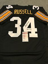 ANDY RUSSELL AUTOGRAPHED SIGNED INCSCRIBED  PITTSBURGH STEELERS JERSEY JSA COA