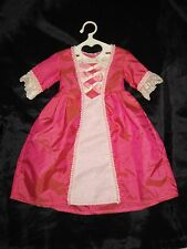 American Girl ELIZABETH MEET DRESS Coral Gown Felicity Retired princess w/hanger