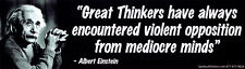 Great Thinkers Have Always Encountered ... Opposition - Bumper Sticker / Decal